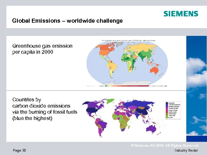 Global Emissions – worldwide challenge Greenhouse gas emission per capita in 2000 Countries by