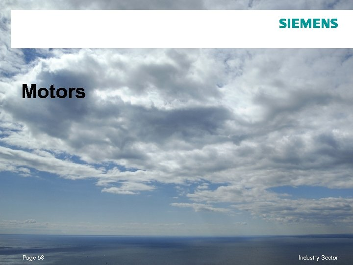 Motors Page 58 © Siemens AG 2010. All Rights Reserved. Industry Sector