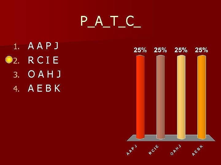P_A_T_C_ 1. 2. 3. 4. AAPJ RCIE OAHJ AEBK