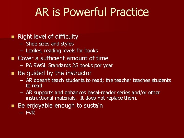 AR is Powerful Practice n Right level of difficulty – Shoe sizes and styles