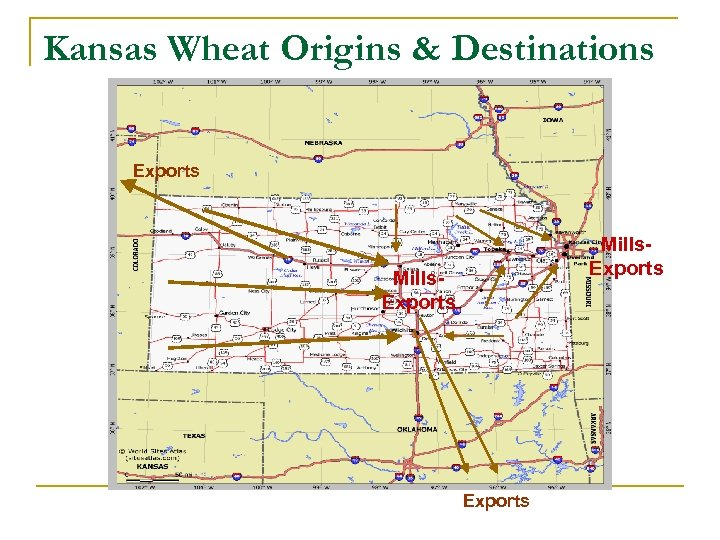 Kansas Wheat Origins & Destinations Exports Mills. Exports