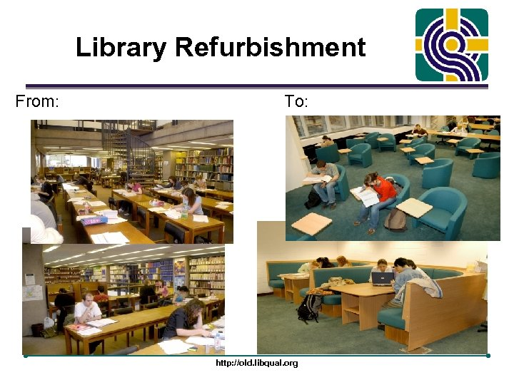 Library Refurbishment From: To: http: //old. libqual. org