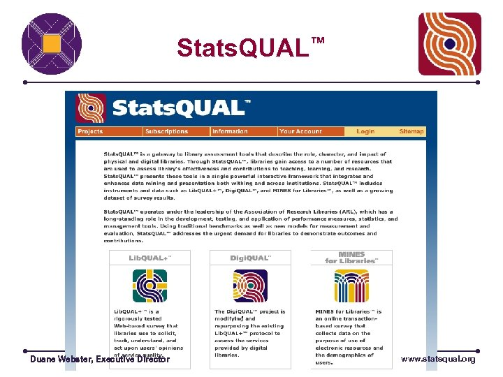 Stats. QUAL™ . Duane Webster, Executive Director www. statsqual. org
