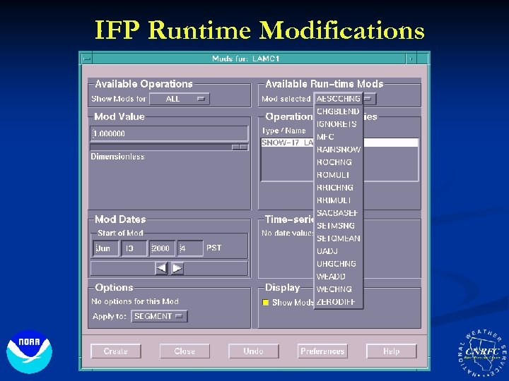 IFP Runtime Modifications