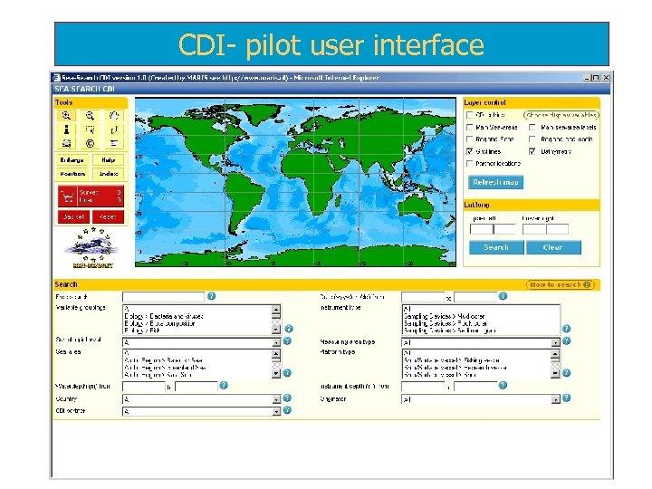 CDI- pilot user interface