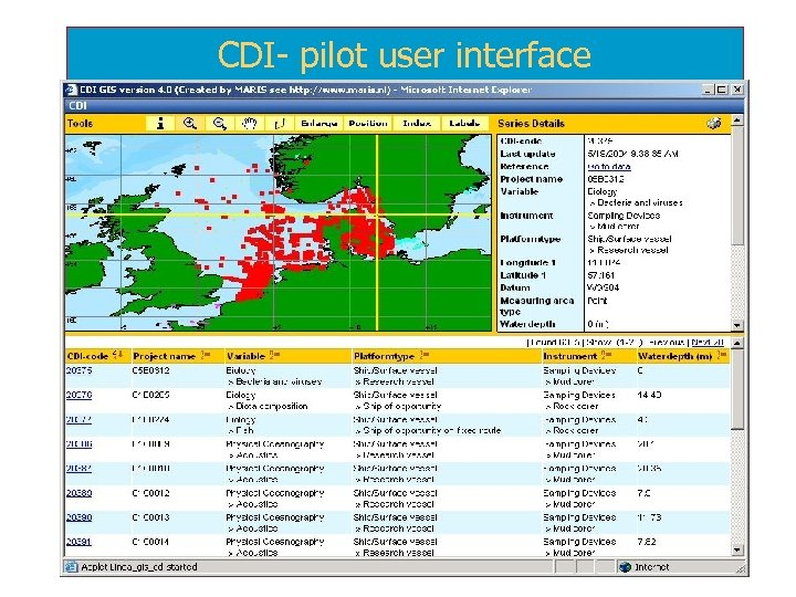 CDI- pilot user interface