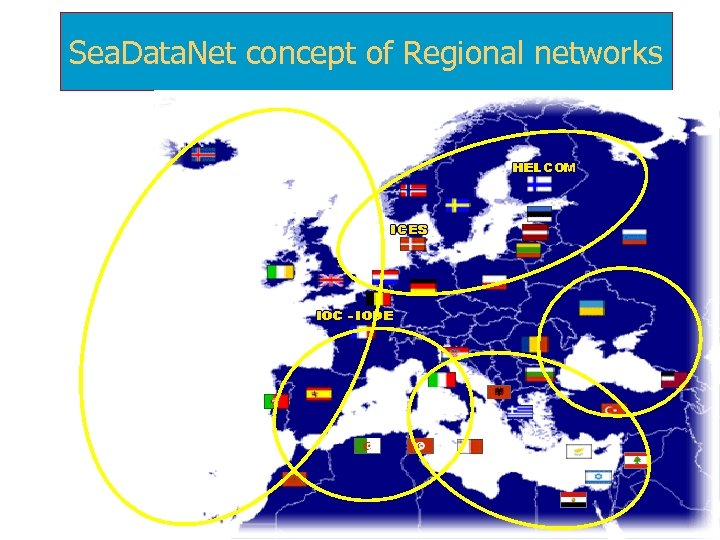 Sea. Data. Net concept of Regional networks