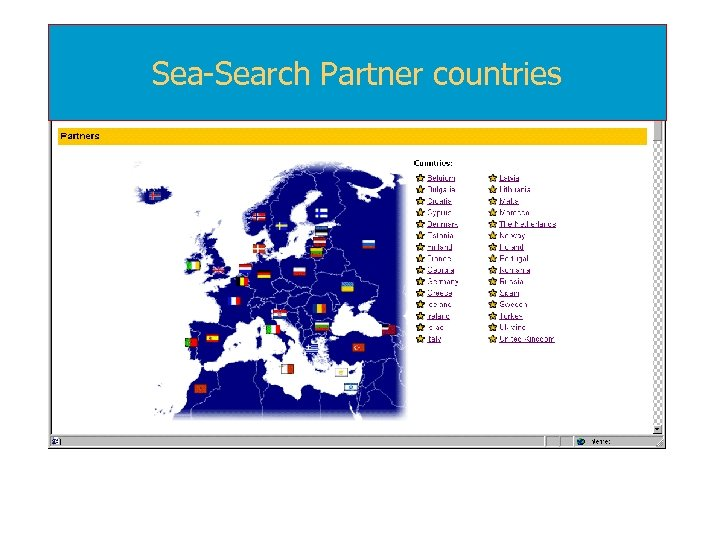 Sea-Search Partner countries