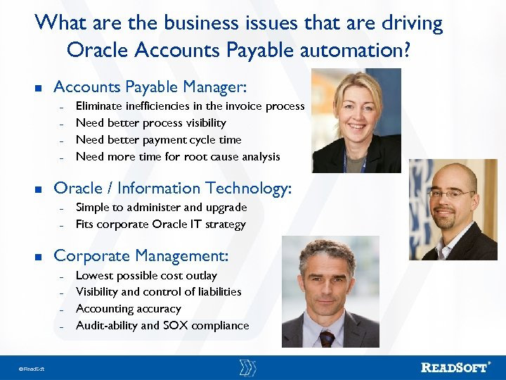 What are the business issues that are driving Oracle Accounts Payable automation? n Accounts