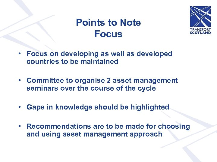 Points to Note Focus • Focus on developing as well as developed countries to
