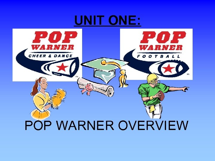 UNIT ONE: POP WARNER OVERVIEW
