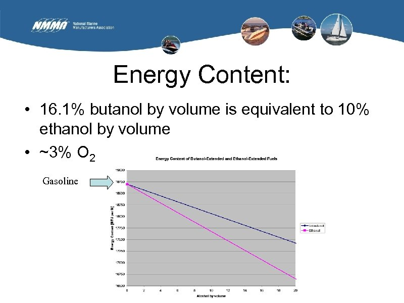 Energy Content: • 16. 1% butanol by volume is equivalent to 10% ethanol by