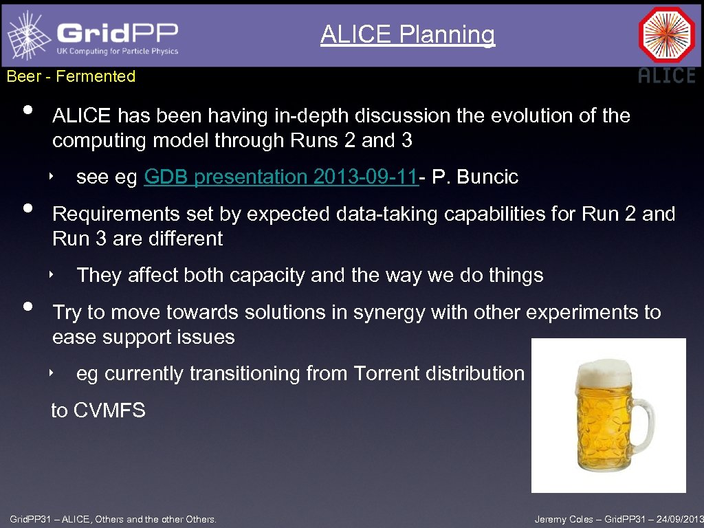 ALICE Planning Beer - Fermented • ALICE has been having in-depth discussion the evolution