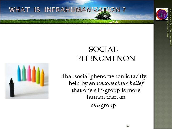 That social phenomenon is tacitly held by an unconscious belief that one's in-group is