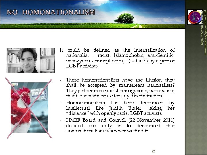 - - - These homonationalists have the illusion they shall be accepted by mainstream