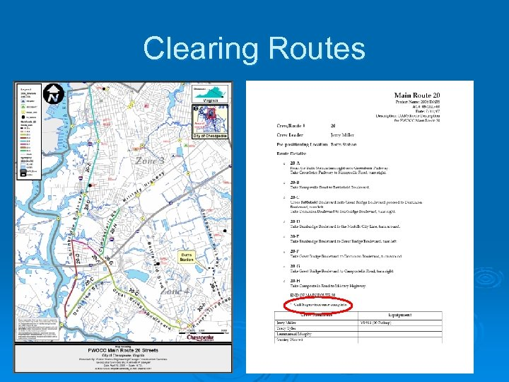 Clearing Routes
