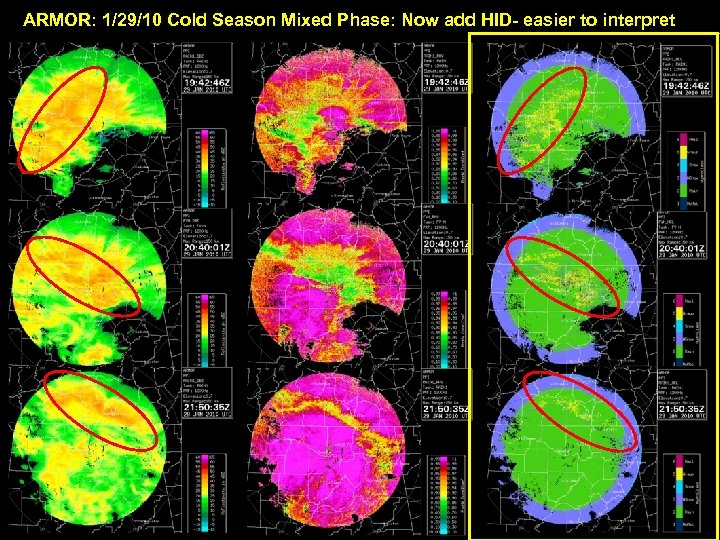 ARMOR: 1/29/10 Cold Season Mixed Phase: Now add HID- easier to interpret