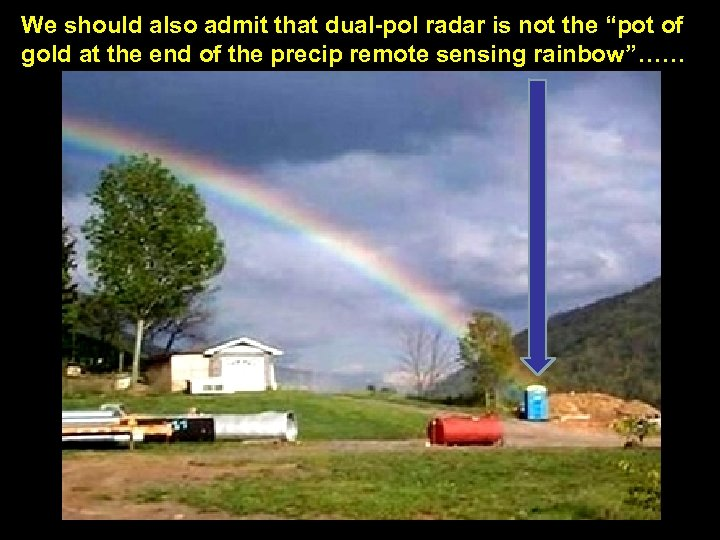 "We should also admit that dual-pol radar is not the ""pot of gold at"