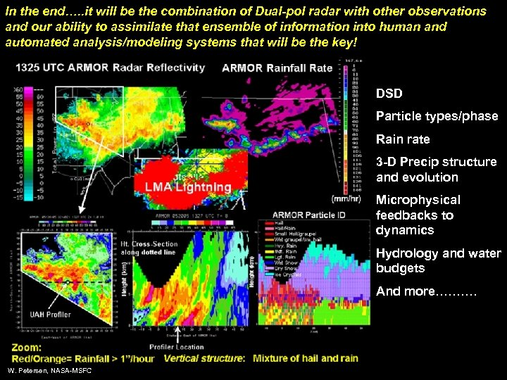 In the end…. . it will be the combination of Dual-pol radar with other