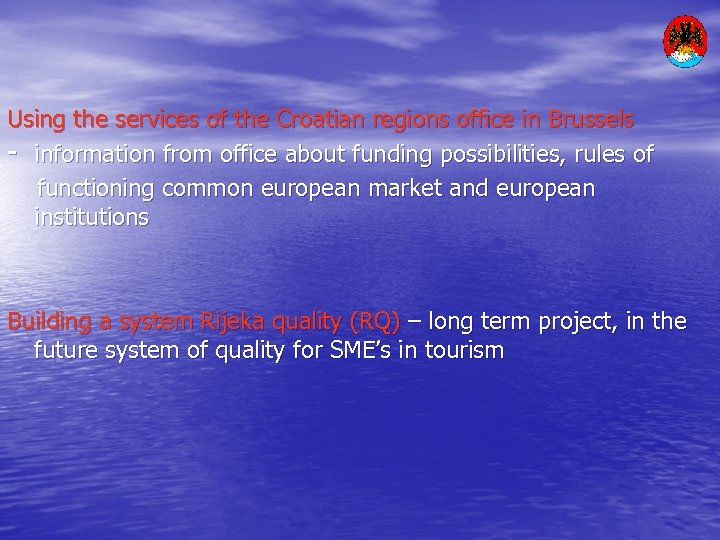 Using the services of the Croatian regions office in Brussels - information from office