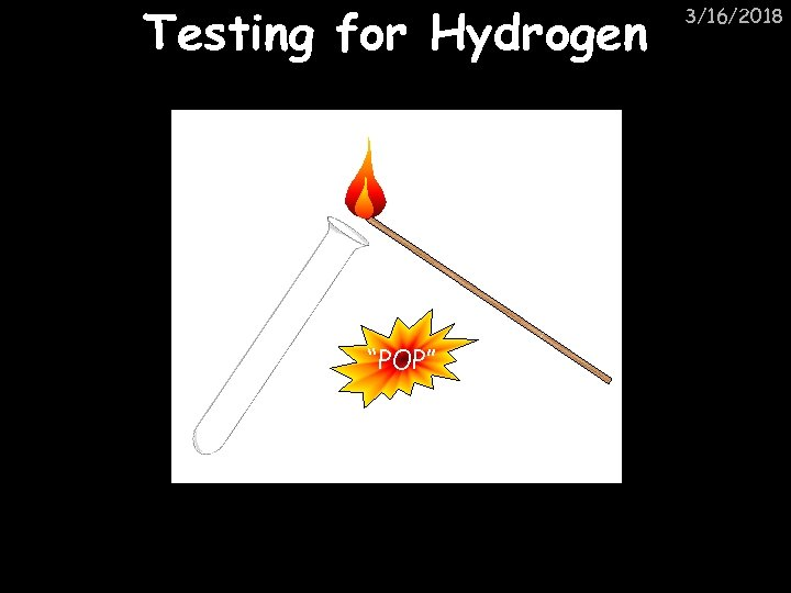 "Testing for Hydrogen ""POP"" 3/16/2018"
