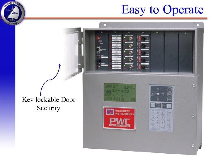 Easy to Operate Key lockable Door Security PWC