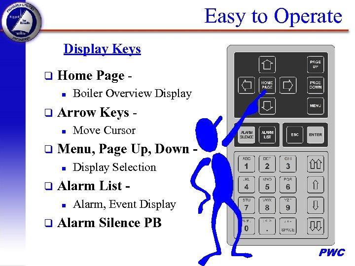 Easy to Operate Display Keys q Home Page n q Arrow Keys n q