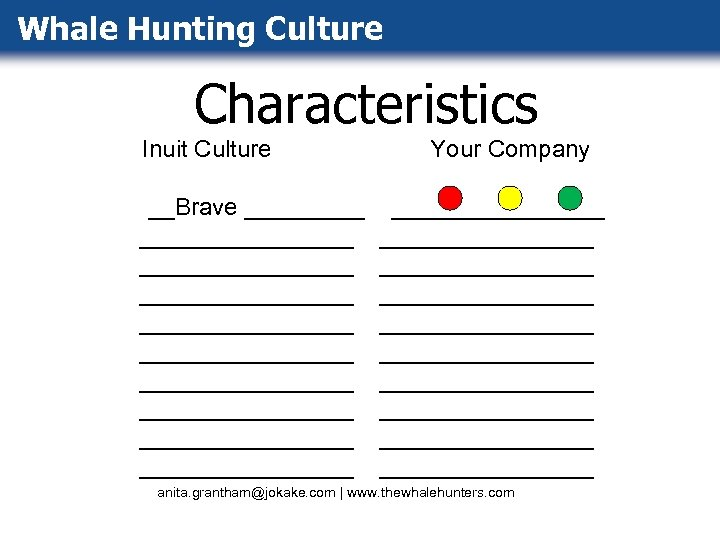 Whale Hunting Culture Characteristics Inuit Culture __Brave ________________ ________________ ________________ Your Company ________________ ________________