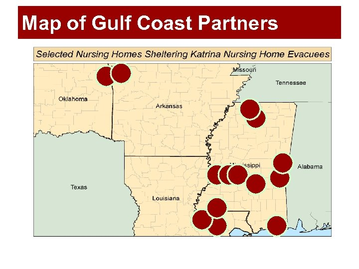 Map of Gulf Coast Partners