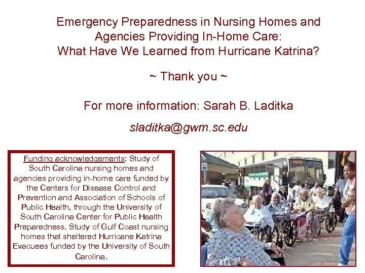 Emergency Preparedness in Nursing Homes and Agencies Providing In-Home Care: What Have We Learned