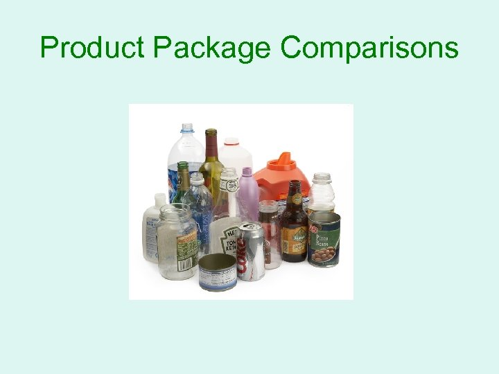 Product Package Comparisons