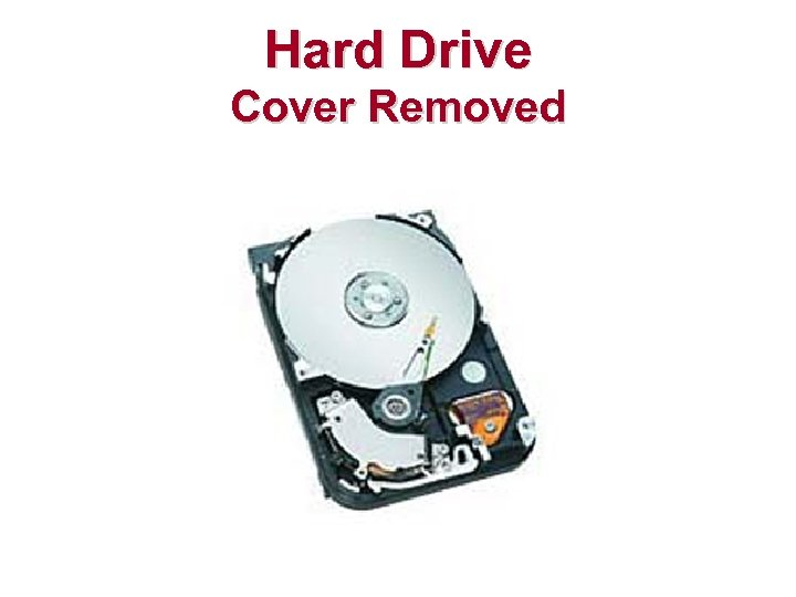 Hard Drive Cover Removed