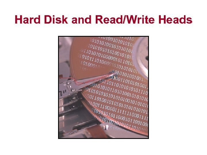 Hard Disk and Read/Write Heads