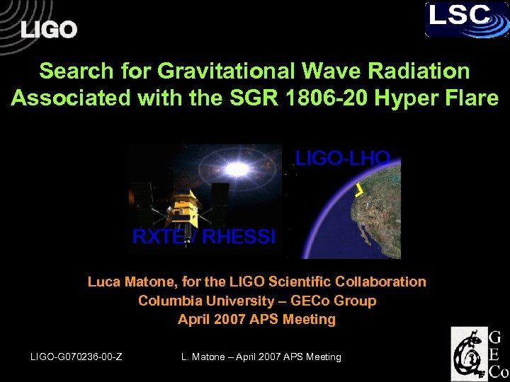 Search for Gravitational Wave Radiation Associated with the SGR 1806 -20 Hyper Flare LIGO-LHO