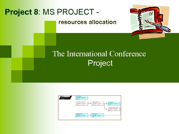 Project 8: MS PROJECT 8 resources allocation The International Conference Project