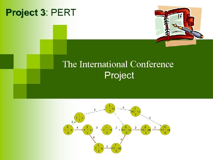 Project 3: PERT 3 The International Conference Project