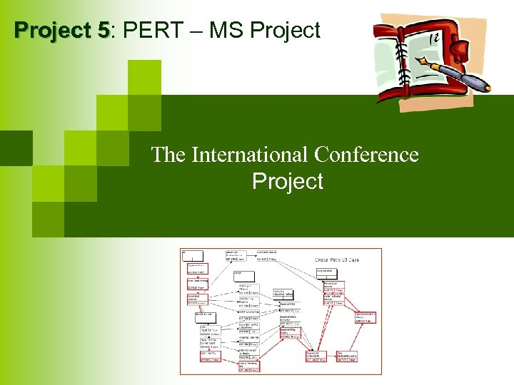 Project 5: PERT – MS Project 5 The International Conference Project
