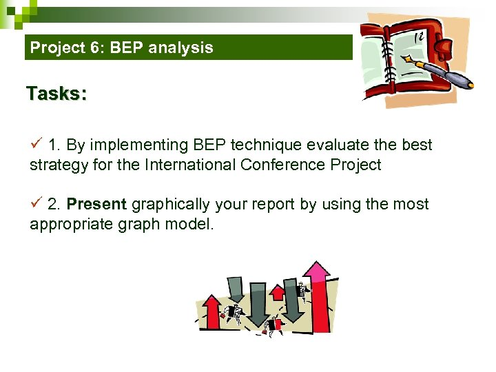 Project 6: BEP analysis Tasks: ü 1. By implementing BEP technique evaluate the best
