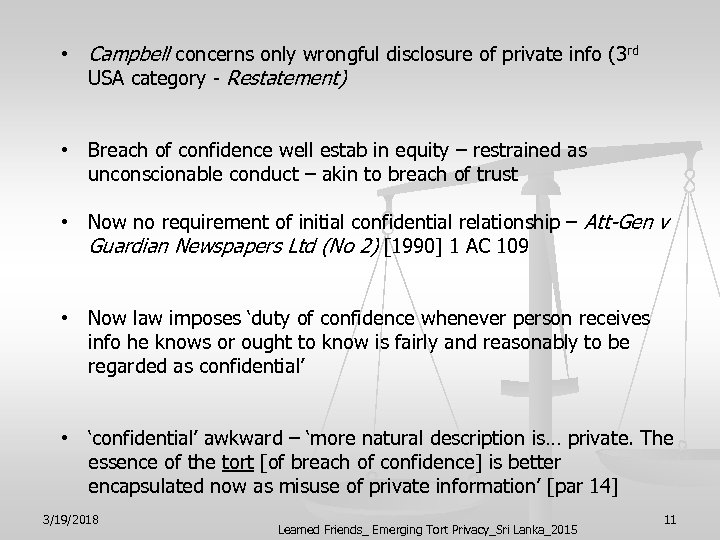 • Campbell concerns only wrongful disclosure of private info (3 rd USA category