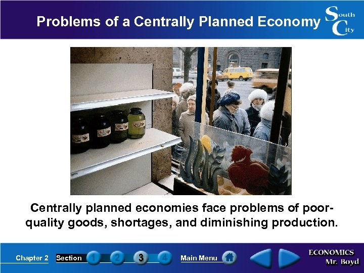Problems of a Centrally Planned Economy Centrally planned economies face problems of poorquality goods,