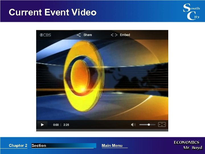 Current Event Video Chapter 2 Section Main Menu