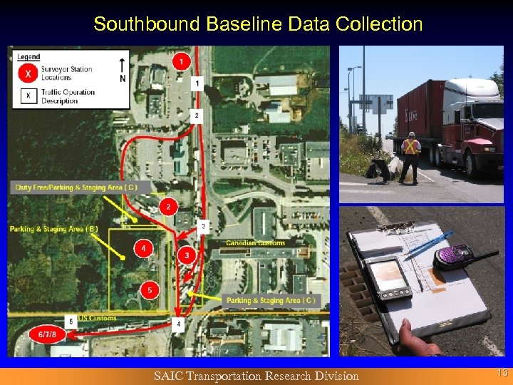Southbound Baseline Data Collection SAIC Transportation Research Division 13