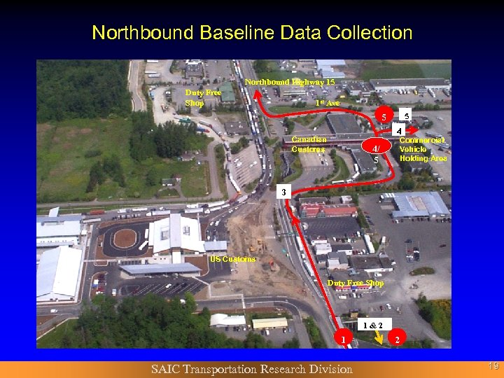 Northbound Baseline Data Collection Northbound Highway 15 Duty Free Shop 1 st Ave 5