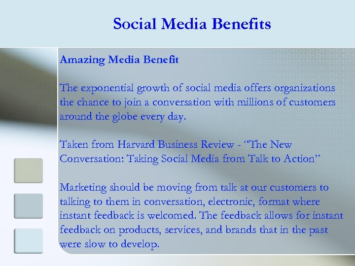 Social Media Benefits Amazing Media Benefit The exponential growth of social media offers organizations