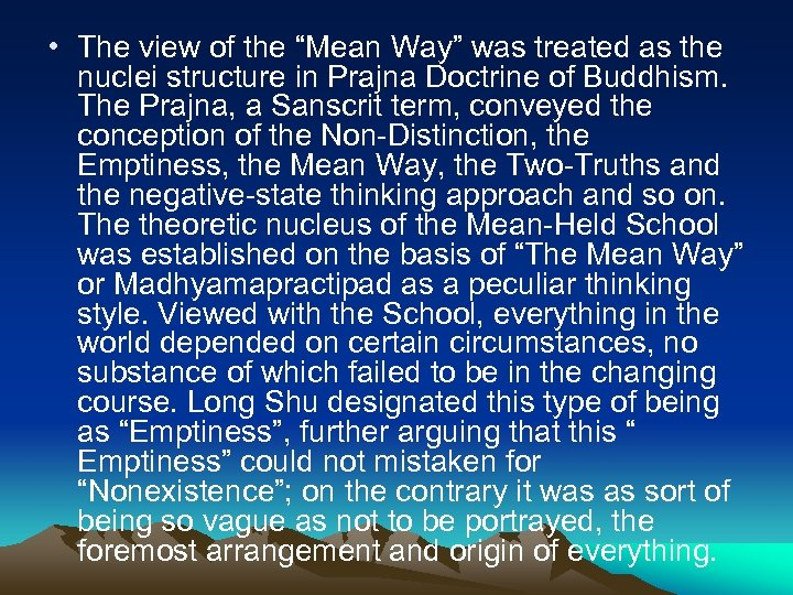 """• The view of the """"Mean Way"""" was treated as the nuclei structure"""