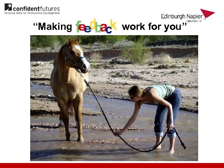 """Making work for you"""