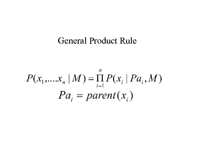 General Product Rule