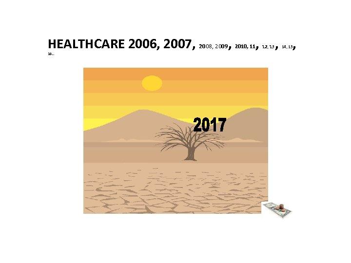 HEALTHCARE 2006, 2007, 2008, 2009, 2010, 11, 16… 12, 13 , , 14, 15