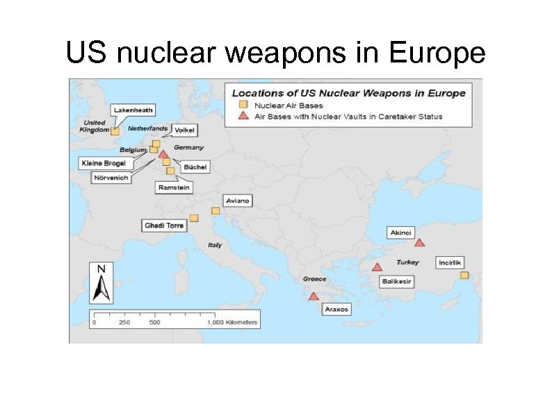 US nuclear weapons in Europe