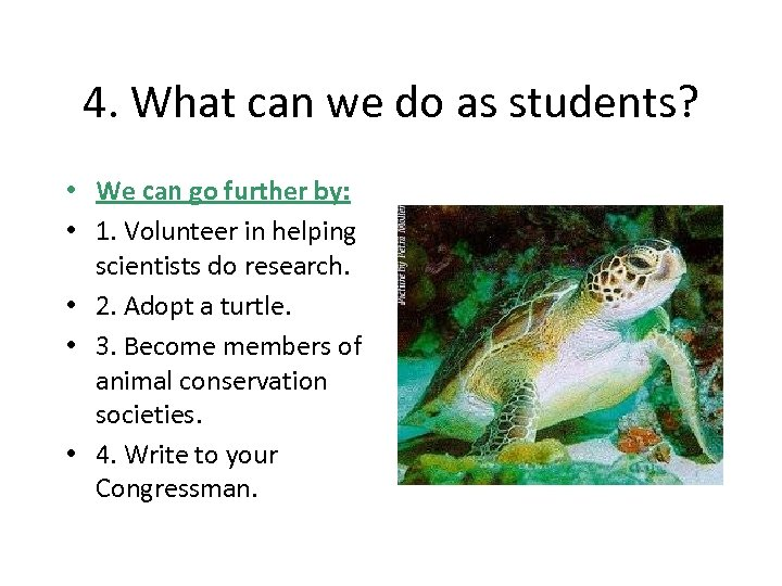4. What can we do as students? • We can go further by: •